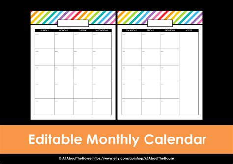 2 page monthly calendar template 2014 printable calendar 2 page monthly calendar printable rainbow
