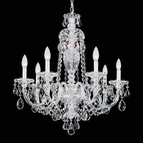 Schonbek 2995 Sterling Crystal 7 Light Up Lighting Chandelier Schonbek Chandeliers