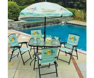 win a margaritaville 6 piece folding patio set with