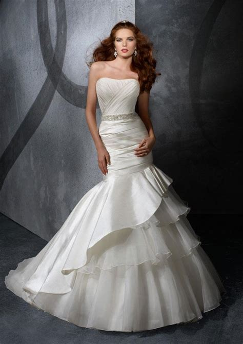 strapless beaded sash taffeta organza mermaid trumpet