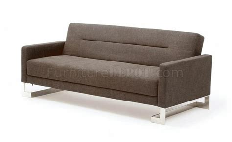 m143 sofa bed in brown or light gray fabric by at home usa