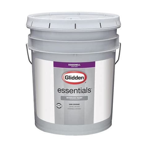 home depot 5 gallon interior paint glidden essentials 5 gal white eggshell interior paint