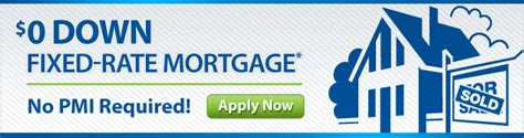 house loan no credit zero down fixed rate mortgage home loan with no down payment nasa federal credit union