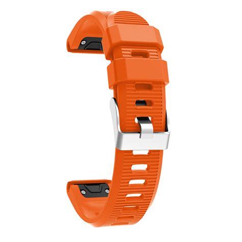 Garmin Fenix 5x Murah Orange replacement silicone wearresistant fit wristband for garmin fenix 5x sale