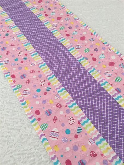 pink easter pattern easter table runner quilt pink lavender easter