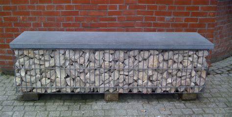 banc gabion banc en gallery of backless jardin banc de
