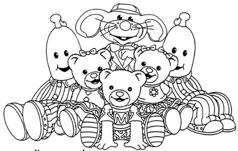 free coloring pages of banana in pyjamas