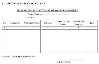 format daftar hadir kepala sekolah contoh format administrasi kepala sekolah terbaru info