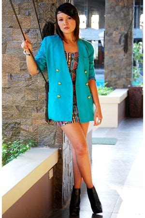 turquoise with blazers how to wear turquoise trend with