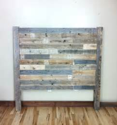 headboard pallet furniture reclaimed barn wood by
