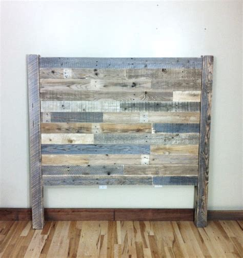 diy headboard reclaimed wood headboard pallet furniture reclaimed barn wood by