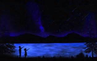 Glow In The Dark Mural by Mountain Lake Glow In The Dark Mural Painting By Frank Wilson