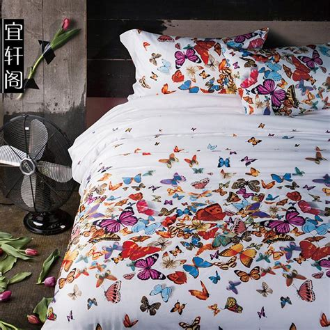 aliexpress com buy 3d butterfly bedding set queen size