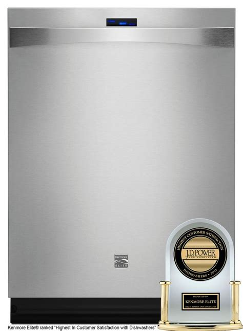 kenmore elite kitchen appliances kenmore elite dishwasher built in 24 in 12783 stainless steel house design pinterest
