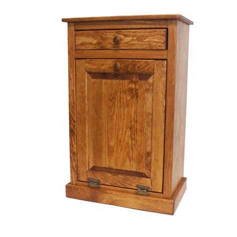 kitchen garbage cabinet amish tilt out trash can from dutchcrafters amish furniture
