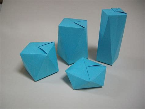 Origami Shapes Geometric Shapes - 97 best origami box images on origami boxes