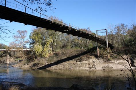 swinging bridge bridgehunter com byram swinging bridge