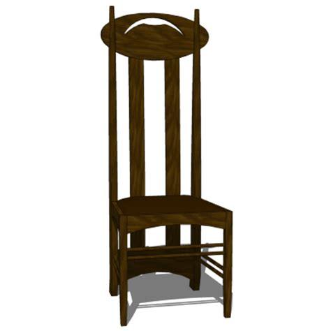 Cr mackintosh argyle chair 3d model formfonts 3d models amp textures