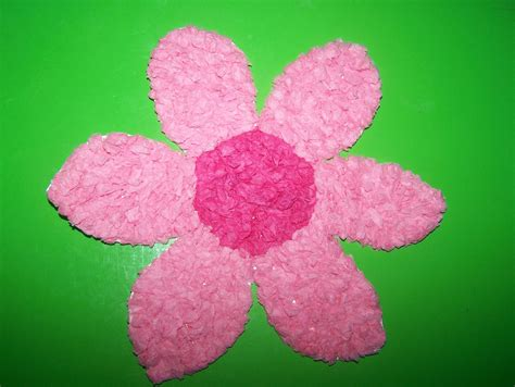 Tissue Paper Flowers - may arts and crafts tissue paper flowers