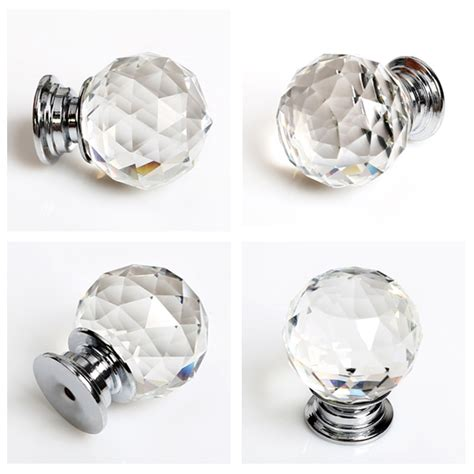 Glass Wardrobe Door Knobs 8x 30mm Clear Glass Cabinet Wardrobe Drawer Kitchen Door Knob Uk Ebay