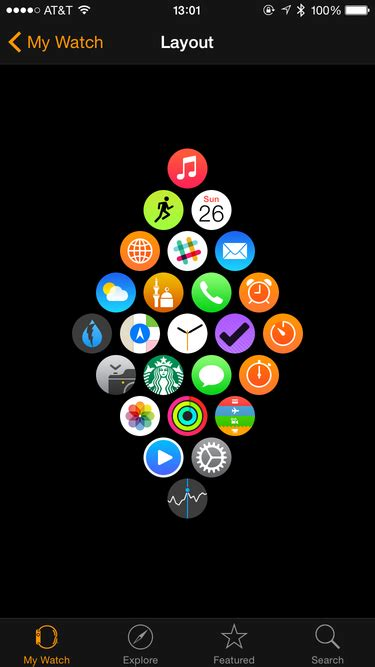 apple watch layout the layout of my apple watch apps the joy of hack
