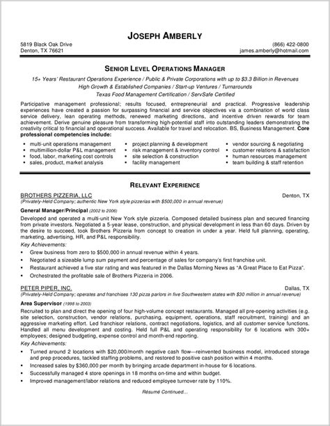 generous functional executive resume template free