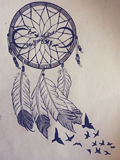 design dream birds beautiful dream catcher drawing tattoo pinterest