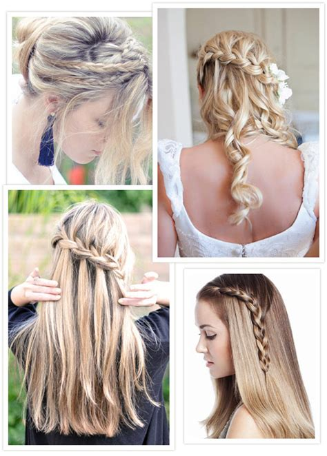 wedding hairstyles half up half down plaits hairspiration plait and braid hairstyles for your