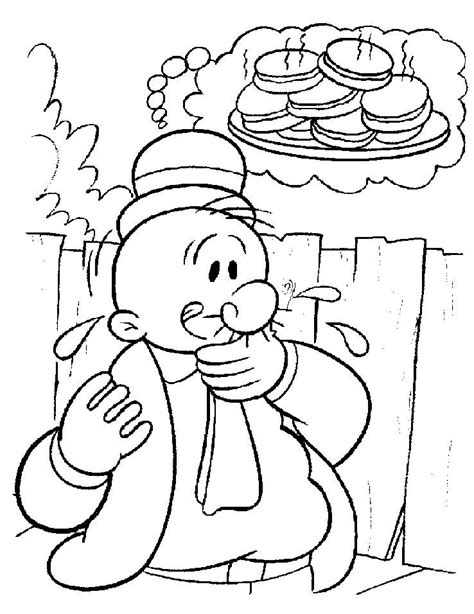 popeye coloring pages printable free printable pictures