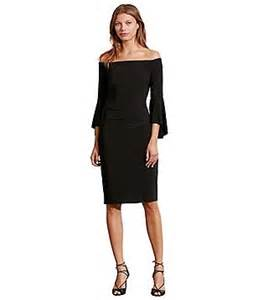 Lauren ralph lauren off the shoulder bell sleeve sheath dress