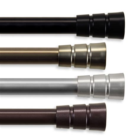 curtain rods 170 inches rio black 120 170 inch curtain rod rod desyne rods