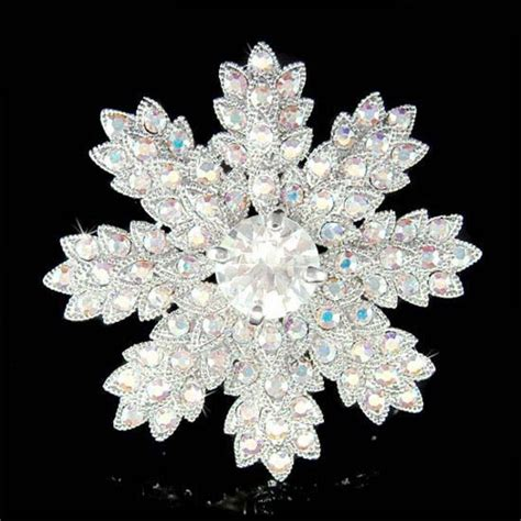 Best Product Promo Cuci Gudang Flower Swarovski Iring 1 swarovski big brial snowflake flower floral pin brooch best friend