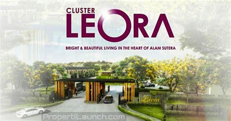 pre launching cluster terbaru leora alam sutera harga