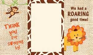 thank you card jungle safari theme
