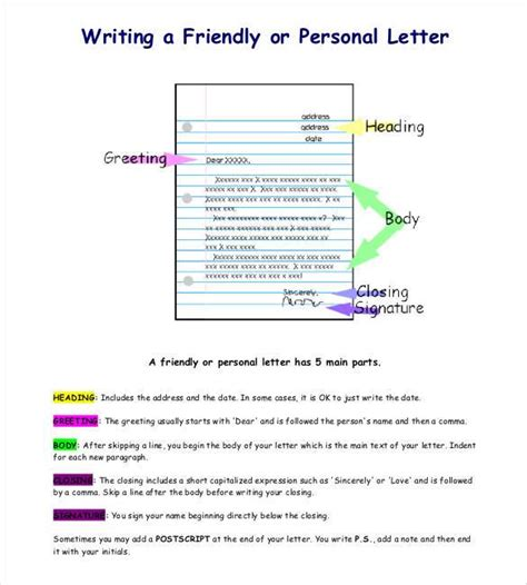 how to write a personal personal letter template 40 free sle exle format