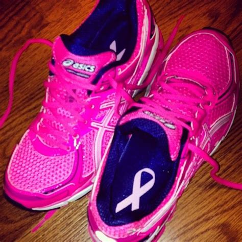 asics breast cancer running shoes often admire my asics quot run for the cure quot shoes