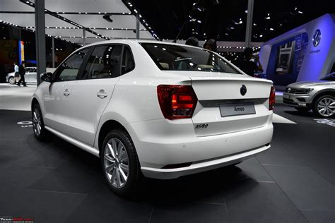volkswagen ameo white volkswagen ameo auto expo 2016 edit starts at rs 5 14
