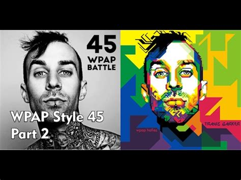tutorial wpap corel draw x7 youtube tutorial wpap style 45 travis barker part 2 with