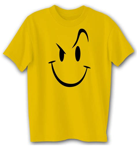 Tees Buy Evil Smiley Comedy Humor Novelty Gold T Shirt