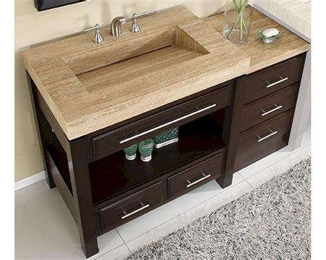 silkroad 56 quot single sink cabinet w drawer bank vanity top