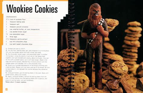 wookiee cookies  star wars cookbook   paycheck shut     money