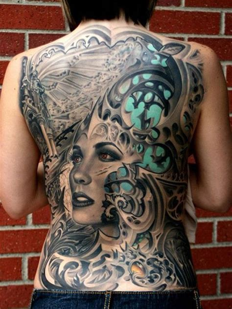 tattoo 3d full back 100 back tattoo ideas for girls with pictures meaning