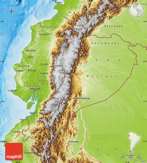 ecuador physical map physical map of ecuador