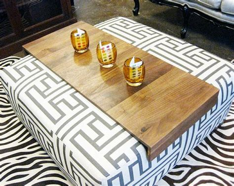 wood trays for ottomans ottoman wrap tray reclaimed wood drink rest table for