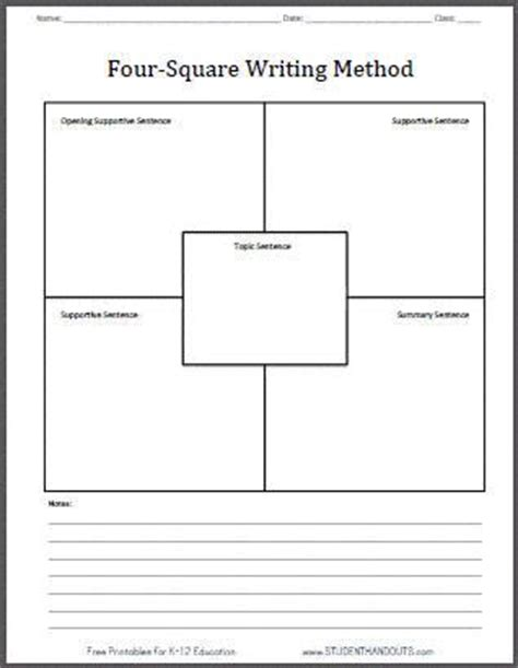 weight management graphic organizer four square writing method blank printable worksheet free