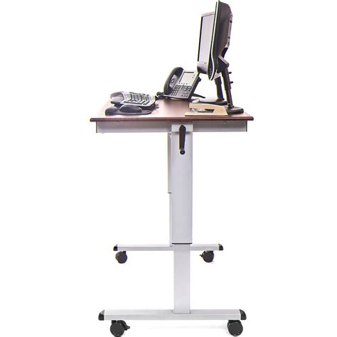 luxor stand up desk luxor standup cf48 dw 48 quot crank adjustable stand up