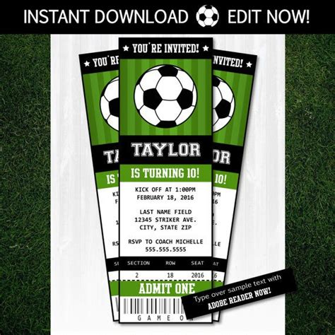 soccer invitation template 56 best images about on