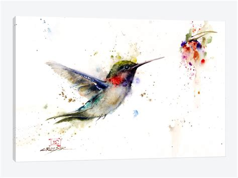 colibri in the moment canvas wall art by dean crouser
