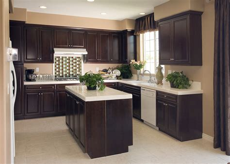Black And Brown Kitchen Cabinets by Attachment Kitchen Design Brown Cabinets 2323