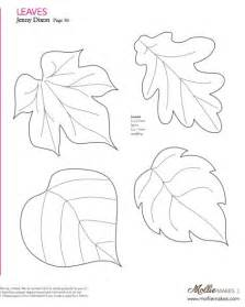 Felt Templates by Free Printable Felt Craft Patterns Felt Leaf Template Cut